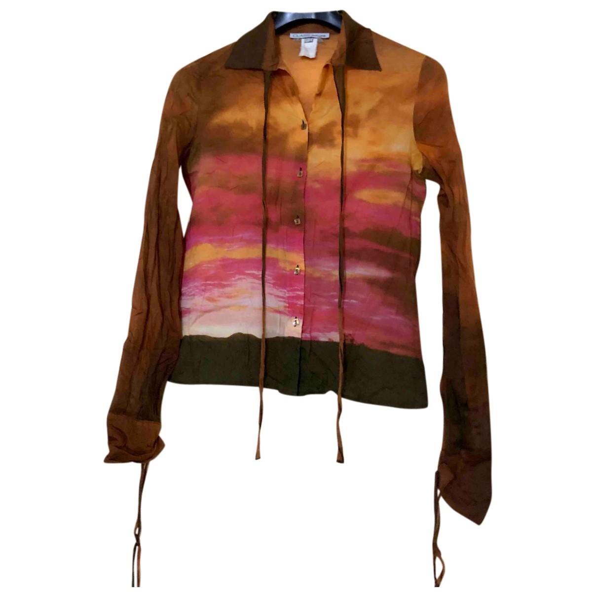Class Cavalli N Multicolour Cotton  top for Women 46 IT