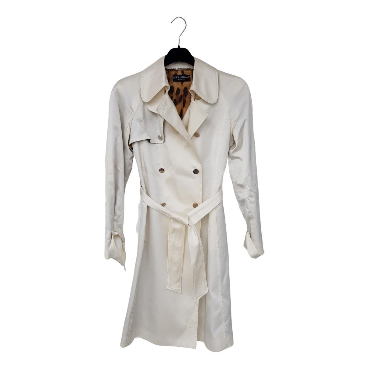 Dolce & Gabbana - Manteau   pour femme en coton - ecru