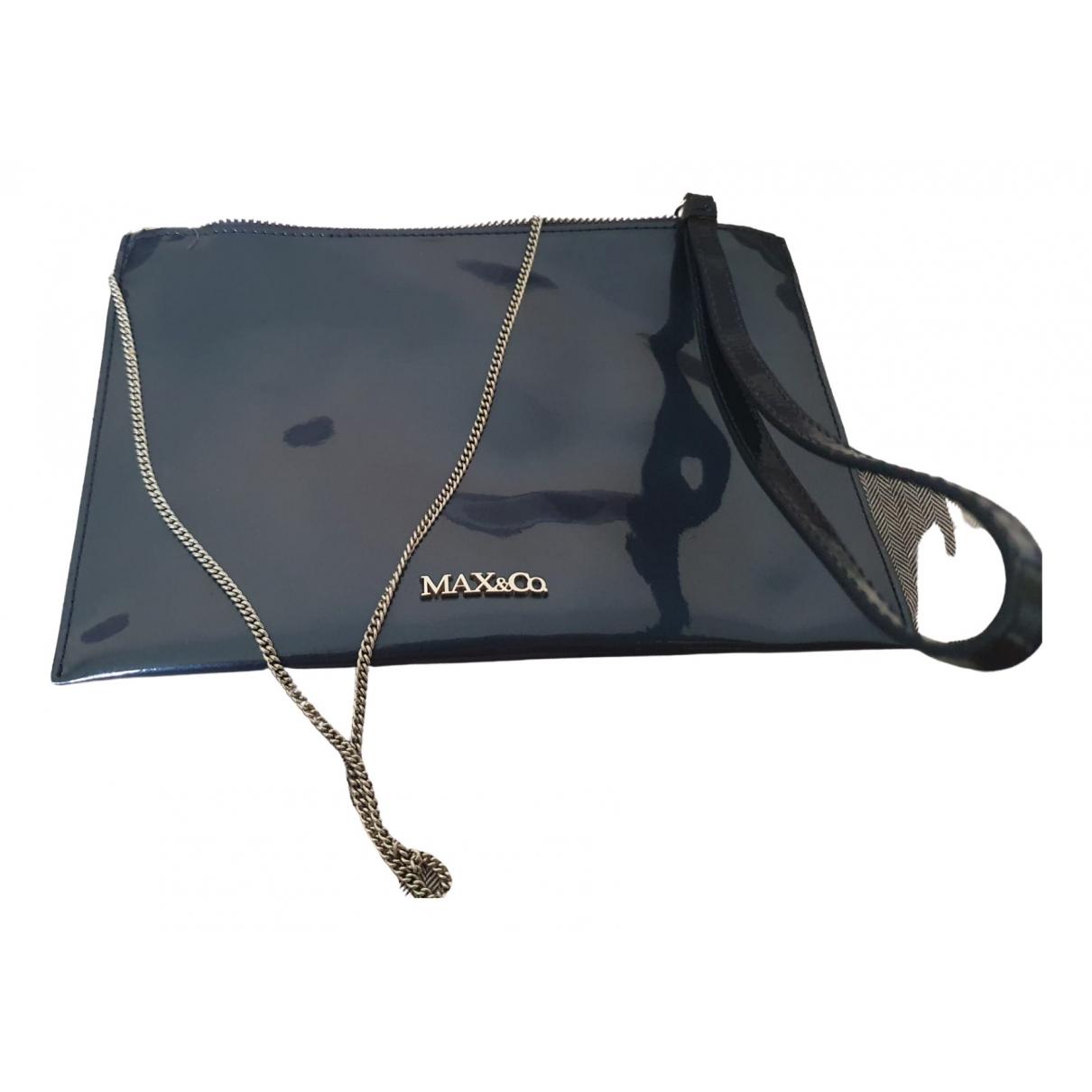 Max & Co \N Clutch in  Blau Leder