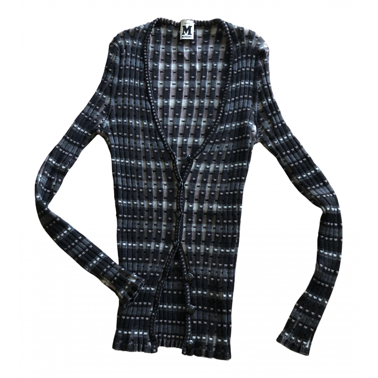 M Missoni N Grey Wool Knitwear for Women 46 IT