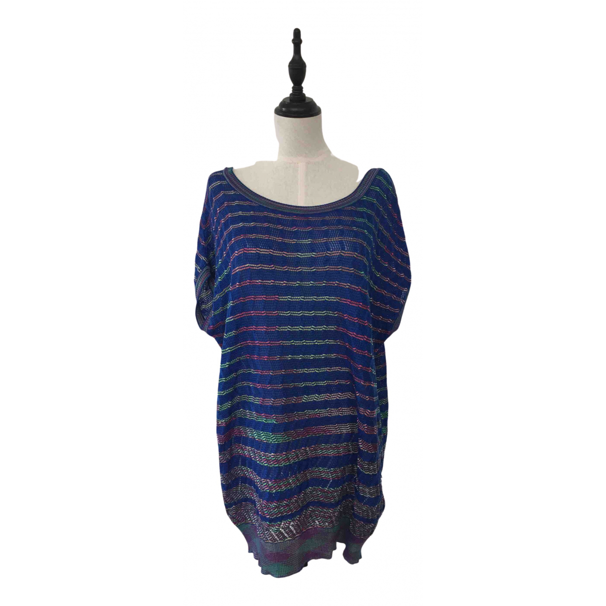 M Missoni N Blue Cotton  top for Women 40 IT