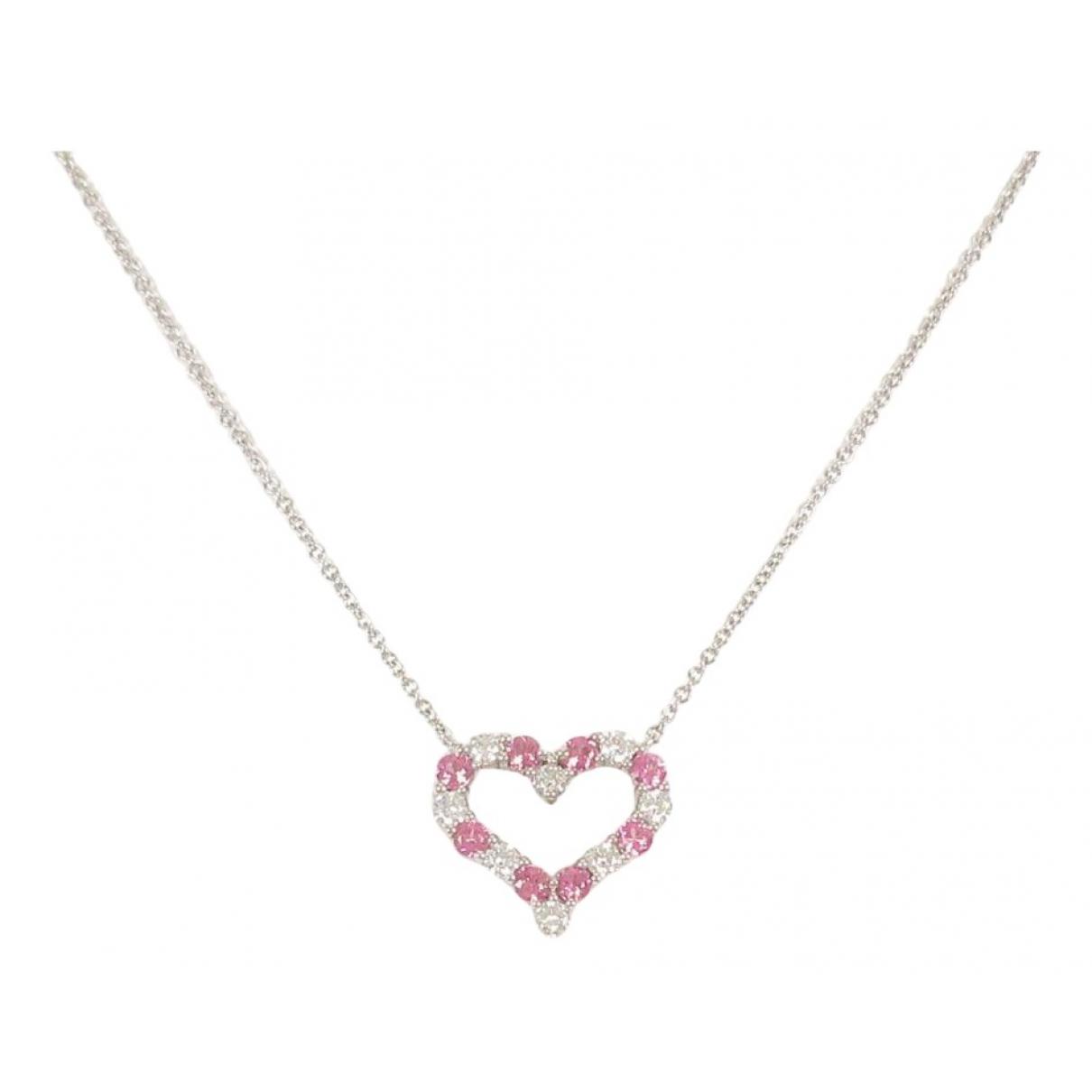 Tiffany & Co - Collier   pour femme en or blanc - rose