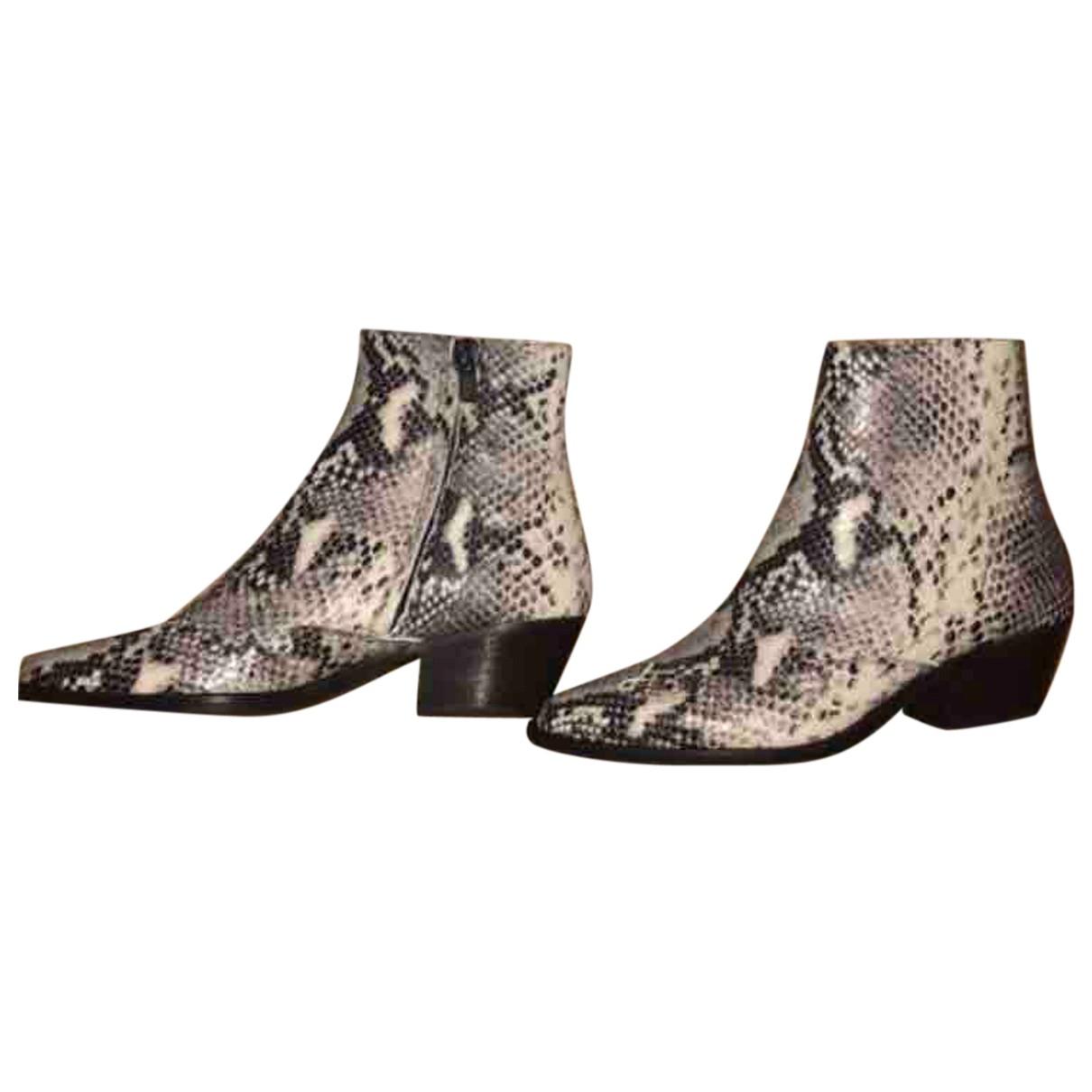 Claudie Pierlot - Boots Fall Winter 2019 pour femme en python - beige