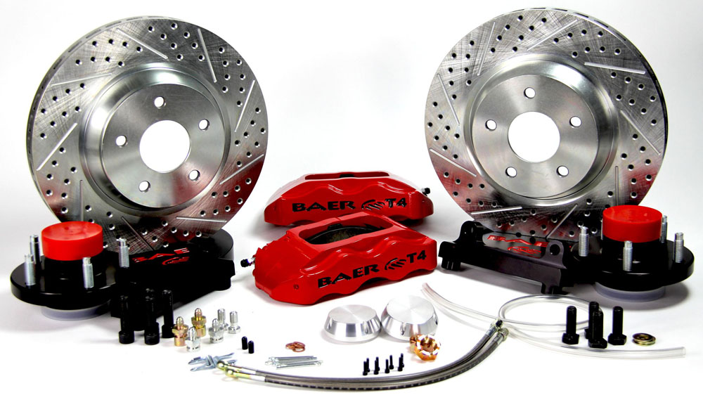 Baer Brakes Brake System 13 Inch Front Track4 Red 74-79 Ford Mercury