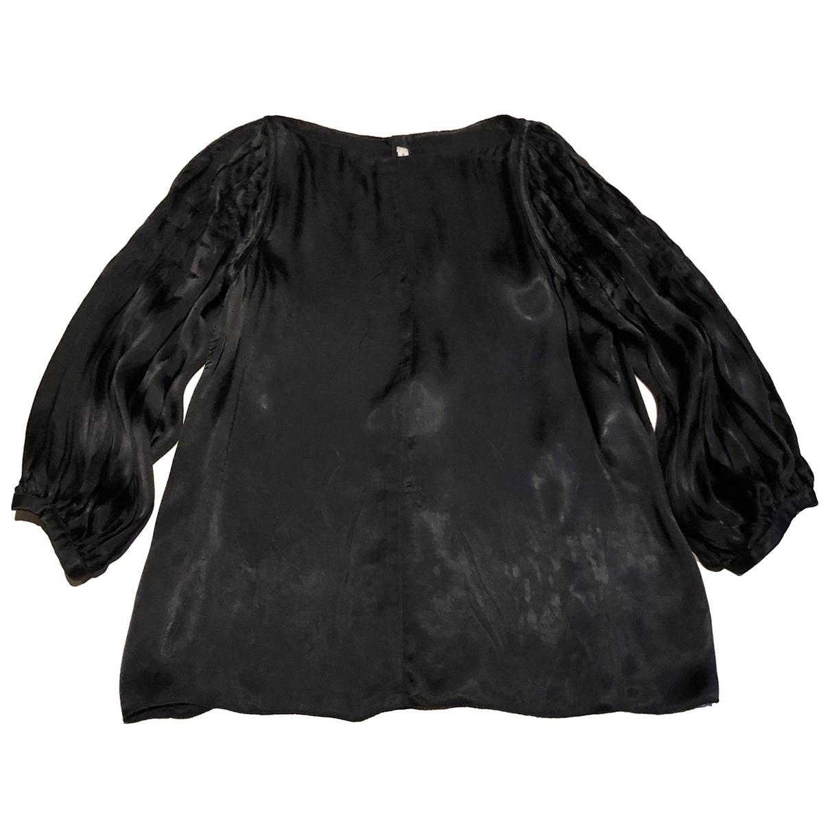 Prada \N Black Silk  top for Women 42 IT