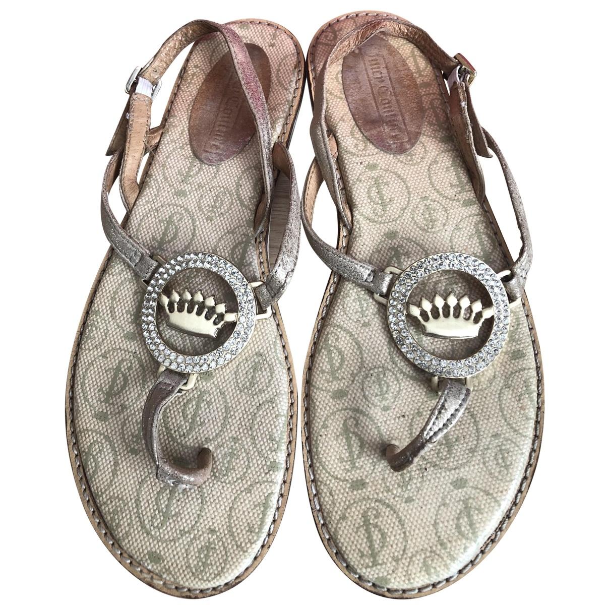 Juicy Couture \N Metallic Cloth Sandals for Women 38 EU