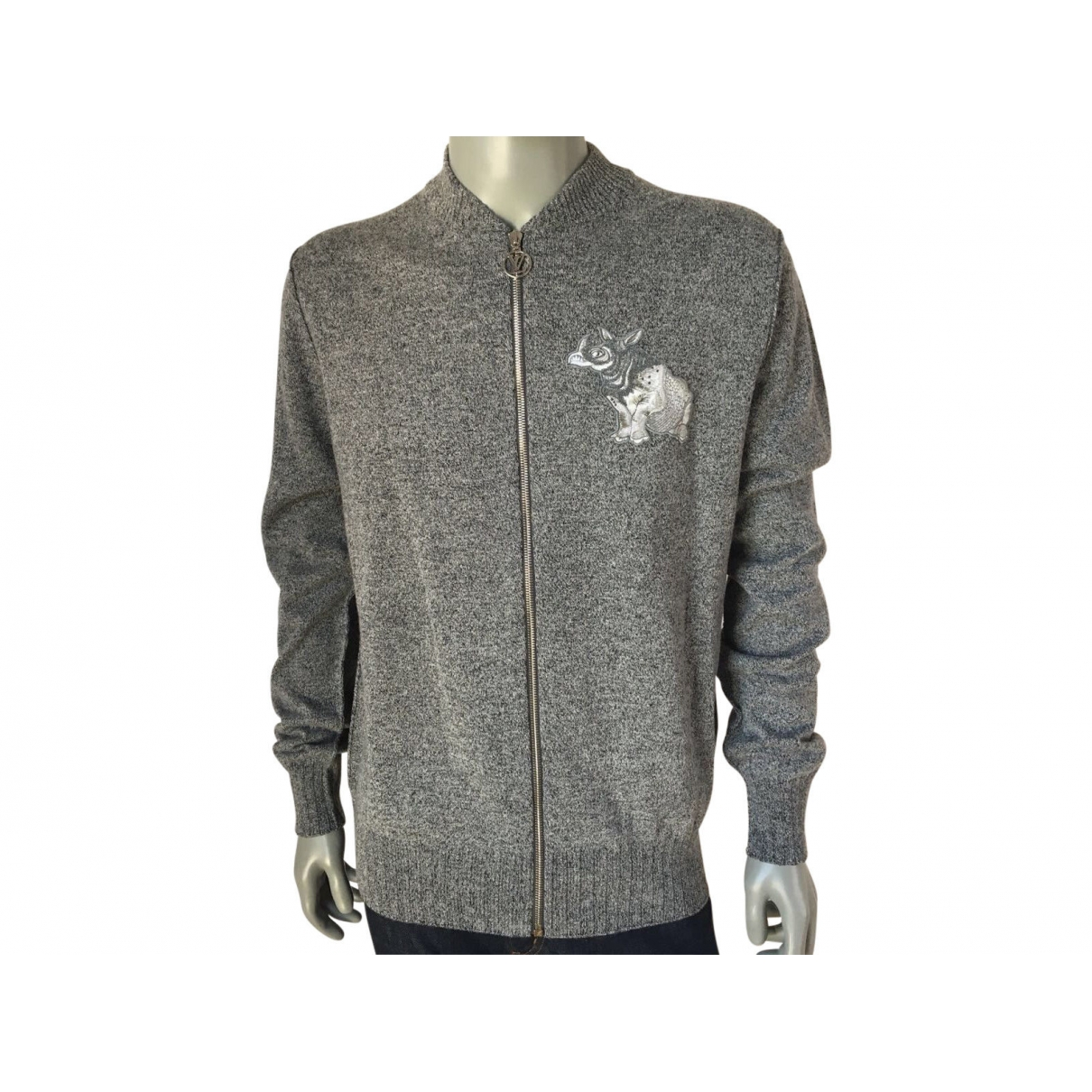 Louis Vuitton \N Pullover.Westen.Sweatshirts  in  Grau Leinen