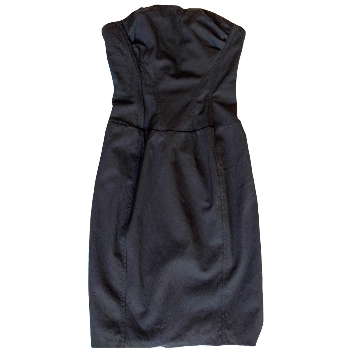 Elisabetta Franchi \N Kleid in  Schwarz Wolle