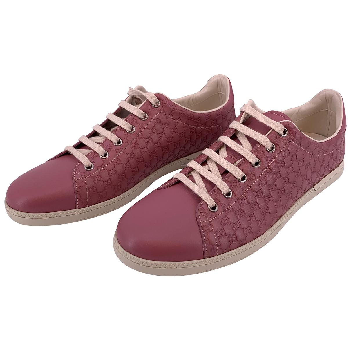 Gucci - Baskets   pour femme en cuir - rose