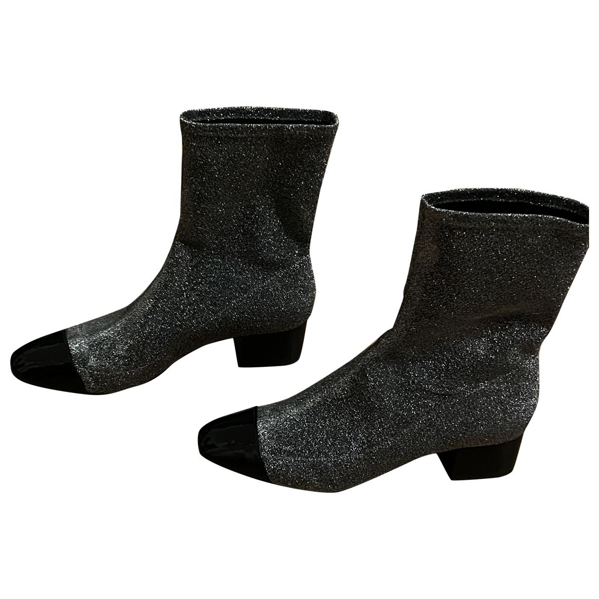 Schutz - Boots   pour femme en toile - argente