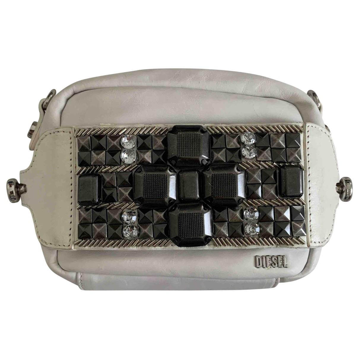 Diesel \N White Leather Clutch bag for Women \N