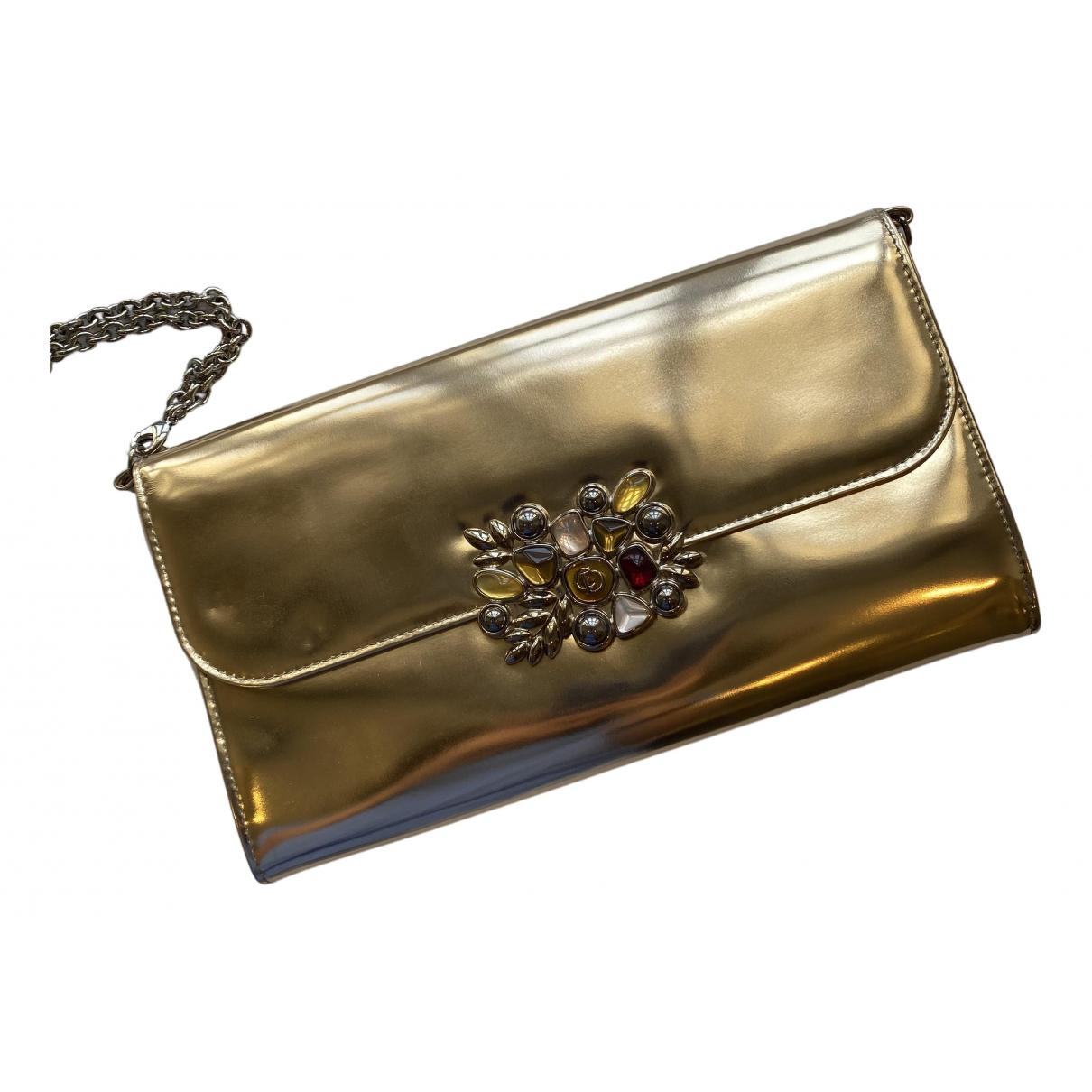 Dior \N Gold Leather Clutch bag for Women \N