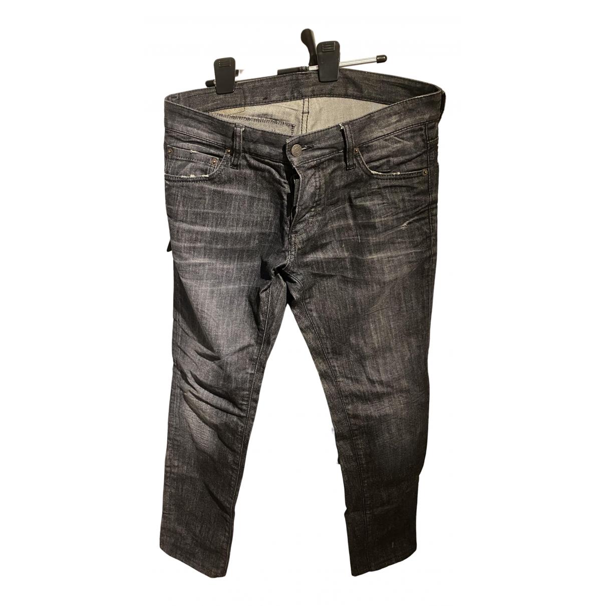 Dsquared2 N Black Cotton Jeans for Men 40 - 42 FR