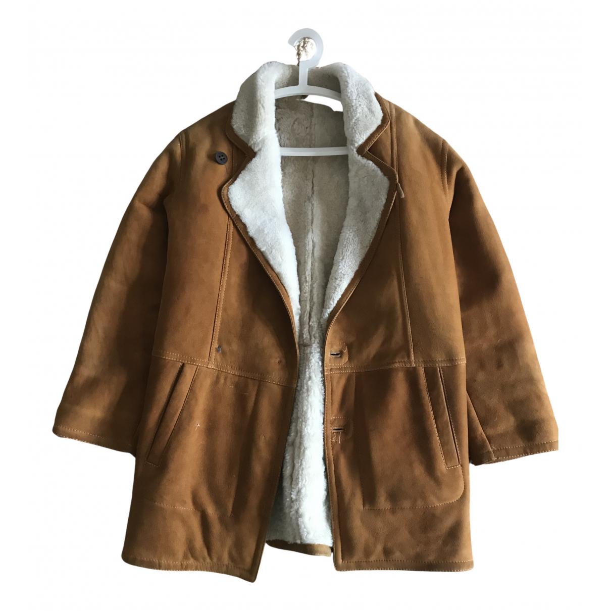 - Manteau Oversize pour femme en suede - marron