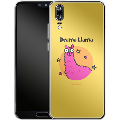 Huawei P20 Silikon Handyhuelle - Drama Lama von Flossy and Jim