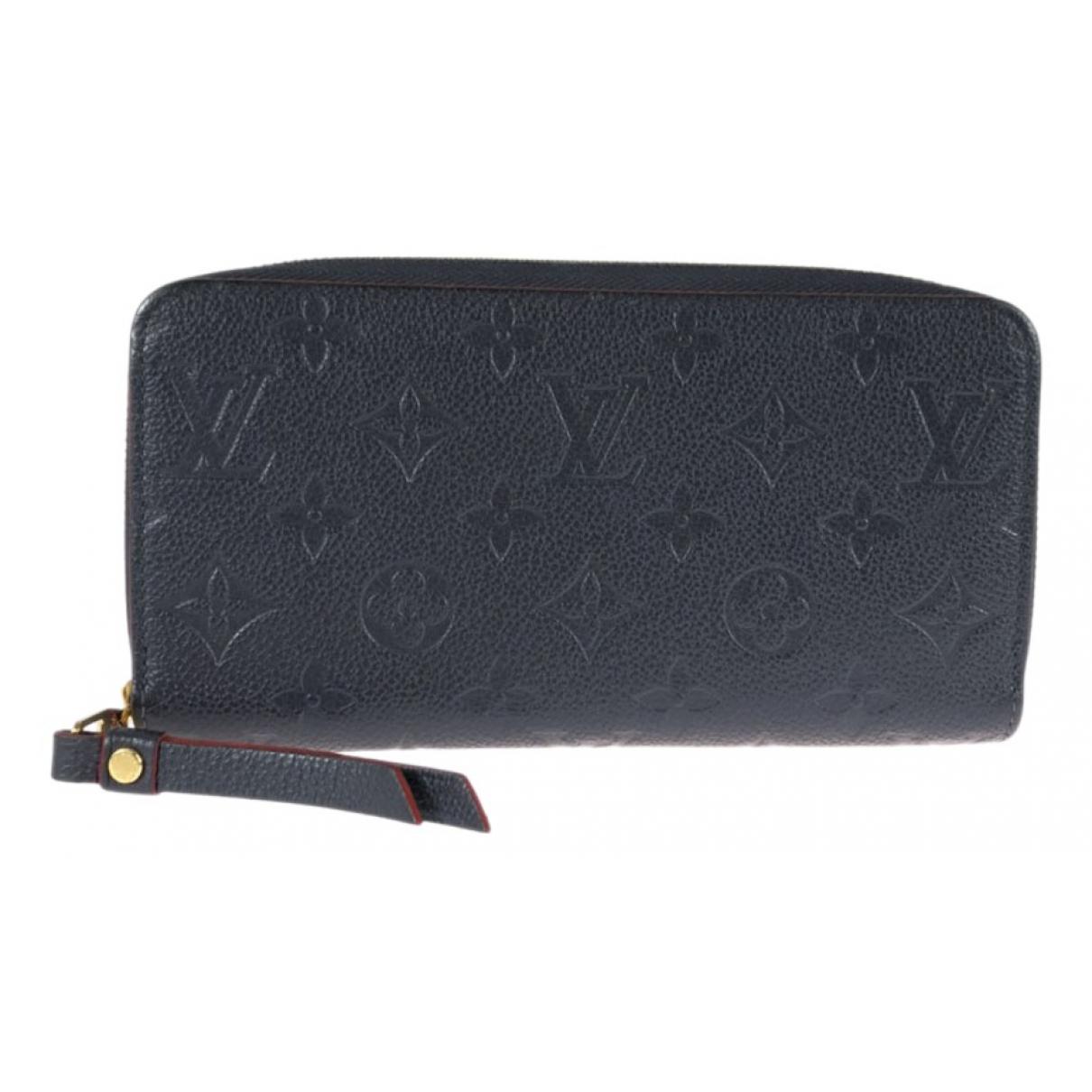Louis Vuitton - Portefeuille Zippy pour femme en cuir - marine