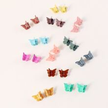24pcs Butterfly Shaped Hair Claw