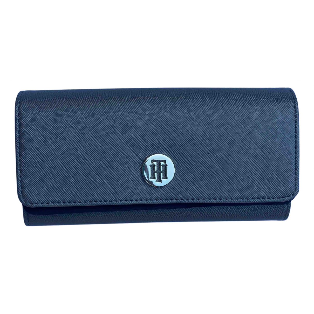 Tommy Hilfiger \N Portemonnaie in  Blau Leder