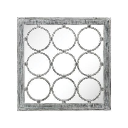 3183-002 Maidstone Wall Mirror  In Antique White  Black