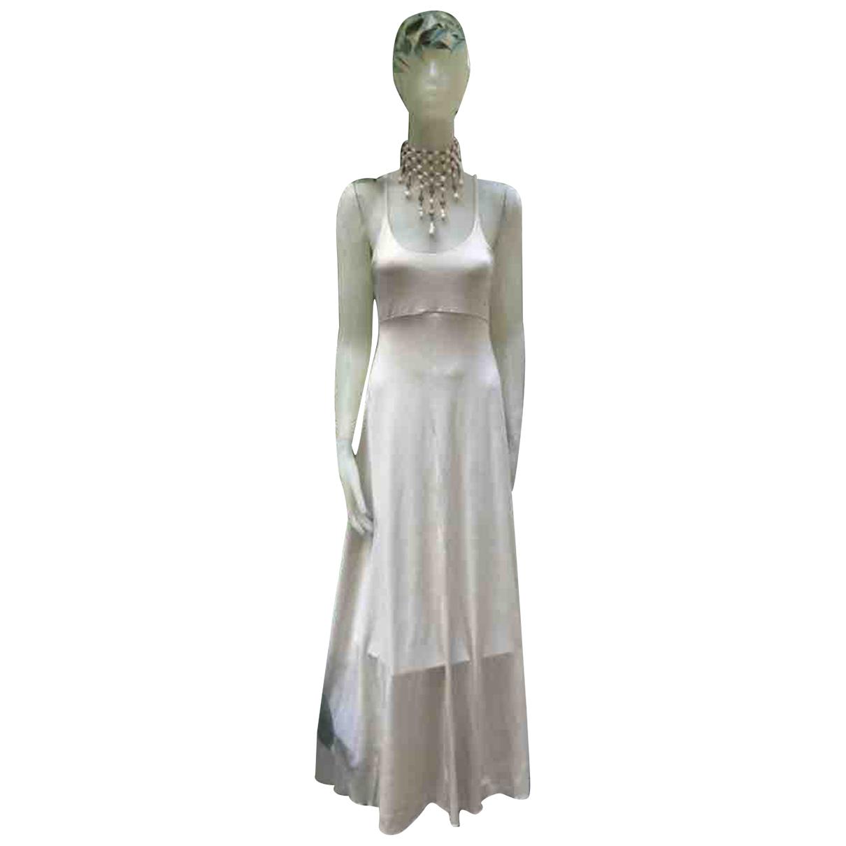 Autre Marque \N Kleid in  Ecru Viskose