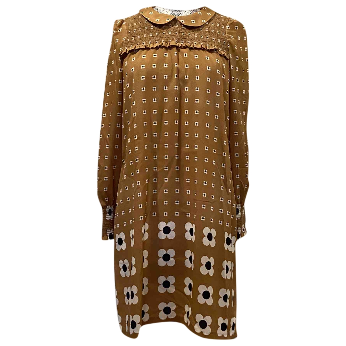 Tara Jarmon - Robe   pour femme en soie - beige