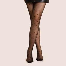 Schwarz Herz Glamouros Socken