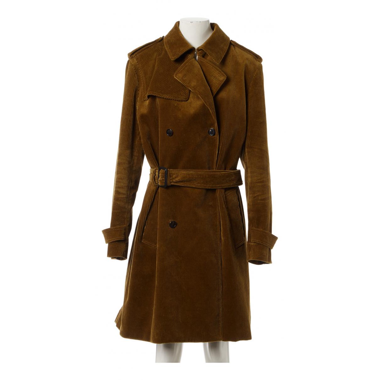 Saint Laurent - Manteau   pour homme en velours - marron