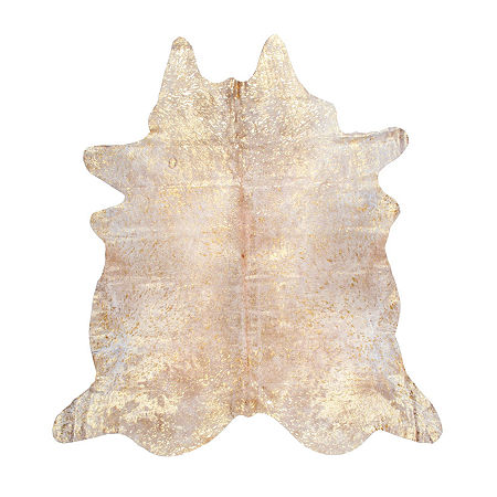 nuLoom Cowhide Rug, One Size , Yellow