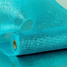Metal Turquoise Laser Deco Mesh Colored - 21 X 10 Yards - Polypropylene / Cellophane - Wraps by Paper Mart