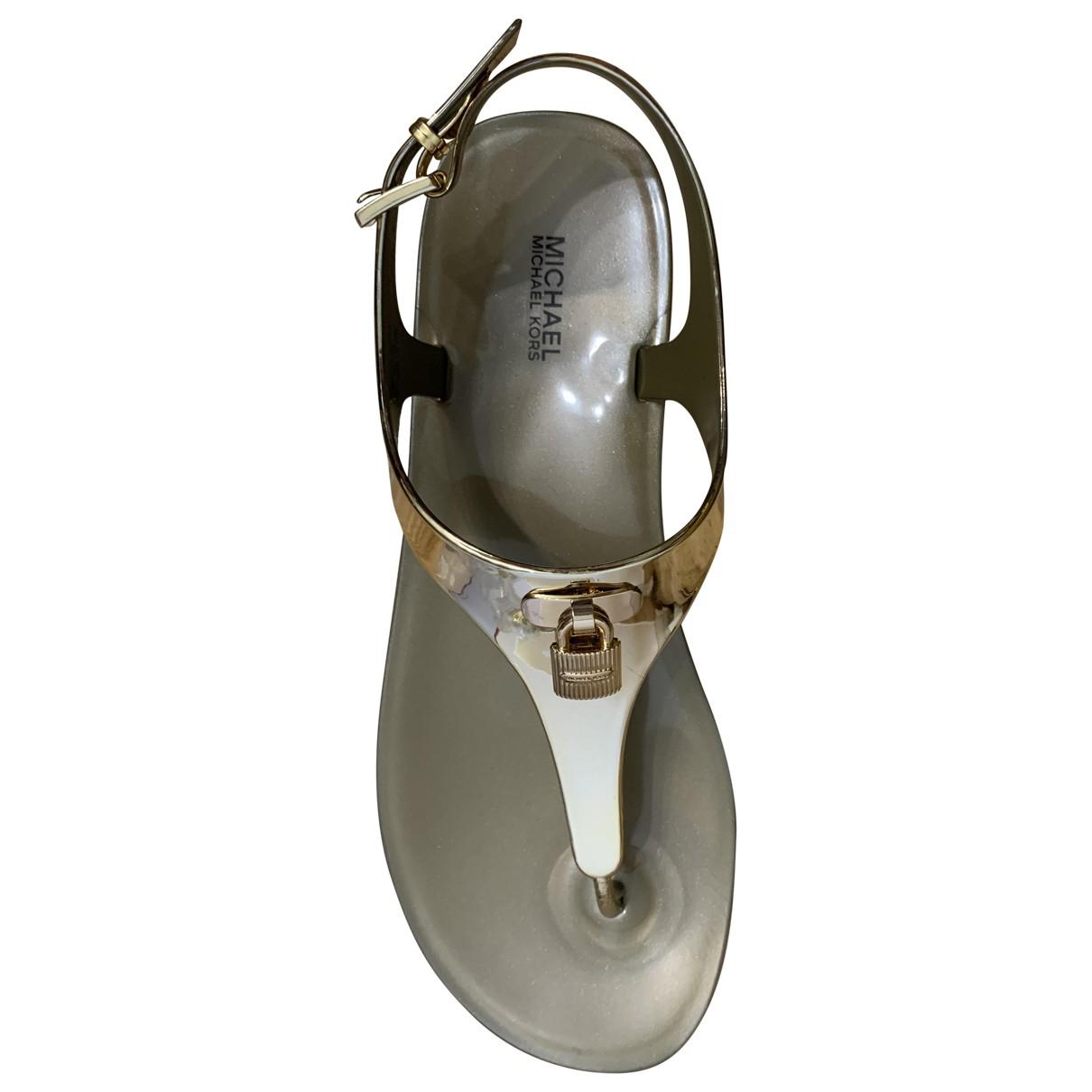 Michael Kors N Gold Sandals for Women 40 EU