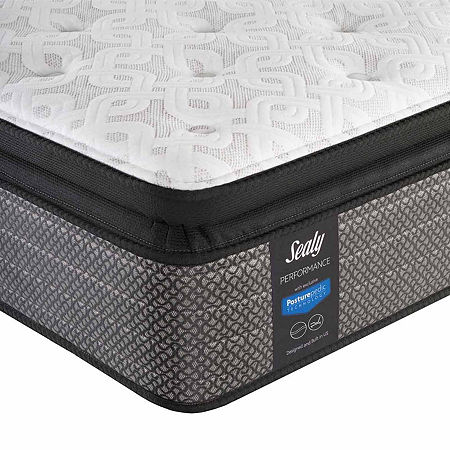 Sealy Besant Cushion Firm Pillowtop - Mattress + Box Spring, One Size , White