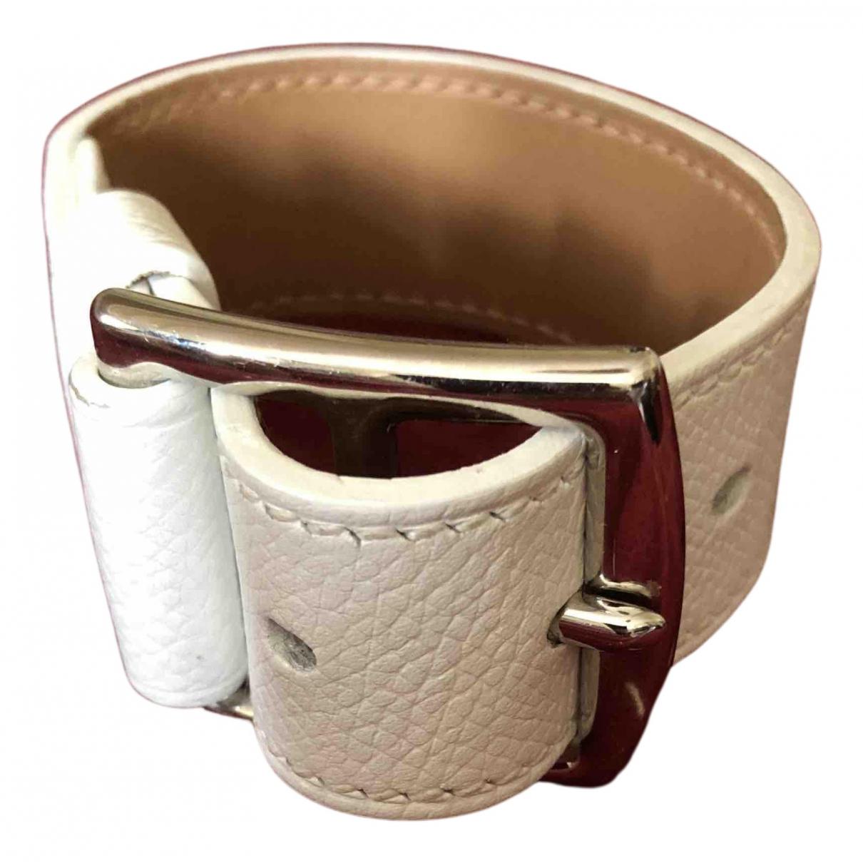 Hermes - Bracelet Etriviere pour femme en cuir - blanc