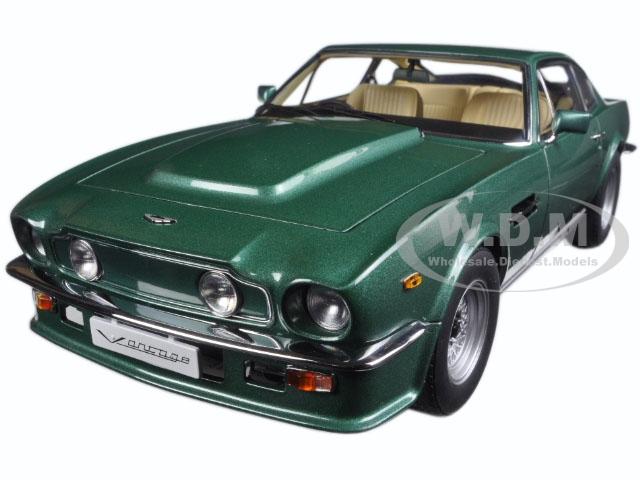 1985 Aston Martin V8 Vantage Forest Green 1/18 Diecast Model Car by Autoart