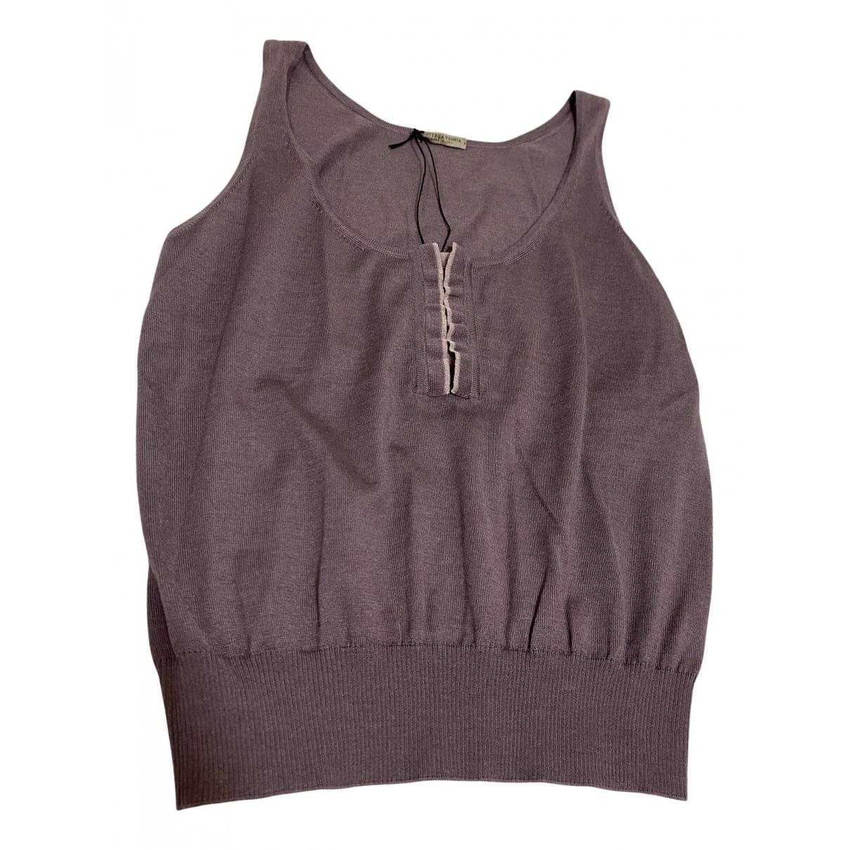 Bottega Veneta - Top   pour femme en coton - violet