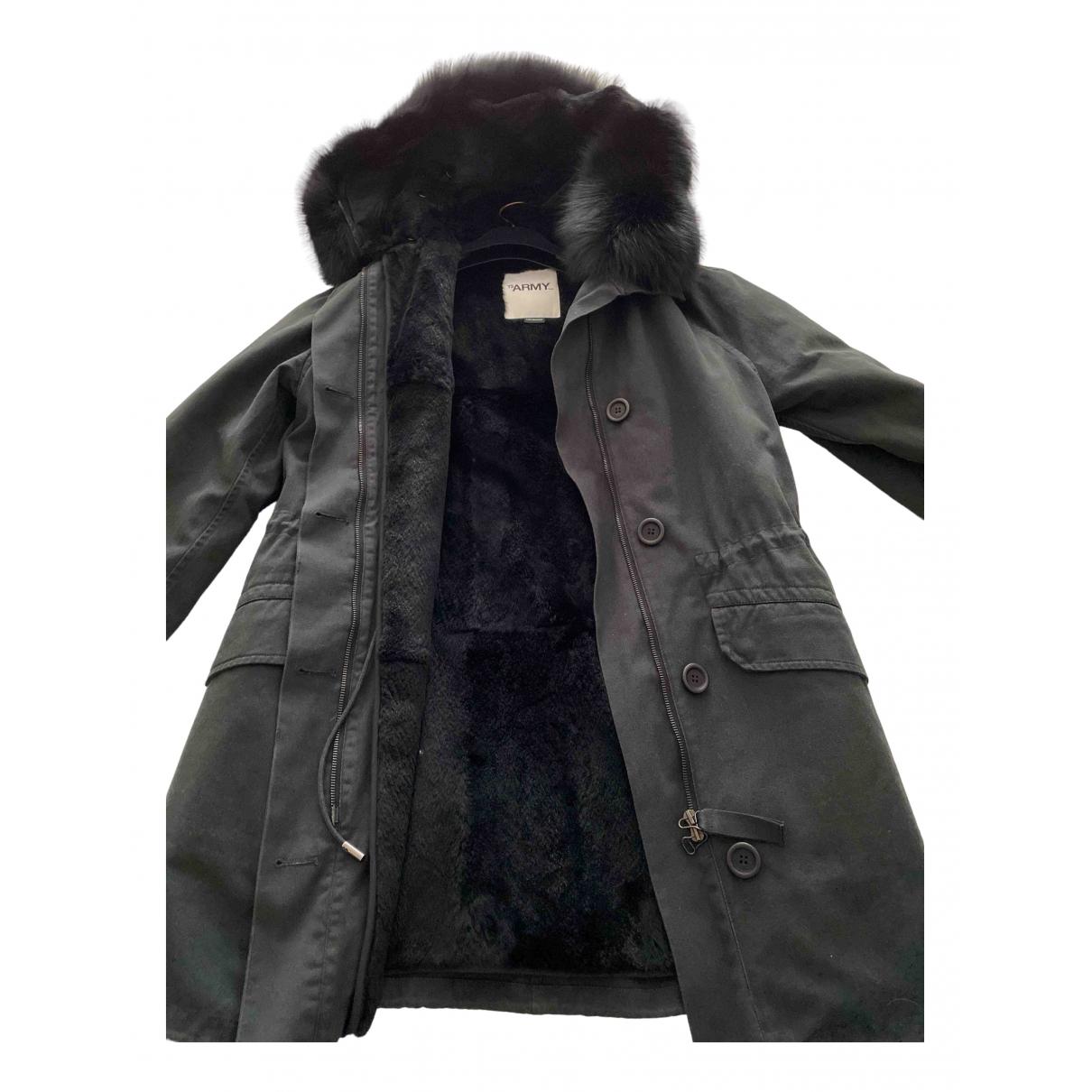 Yves Salomon N Black Rabbit coat for Women 32 FR