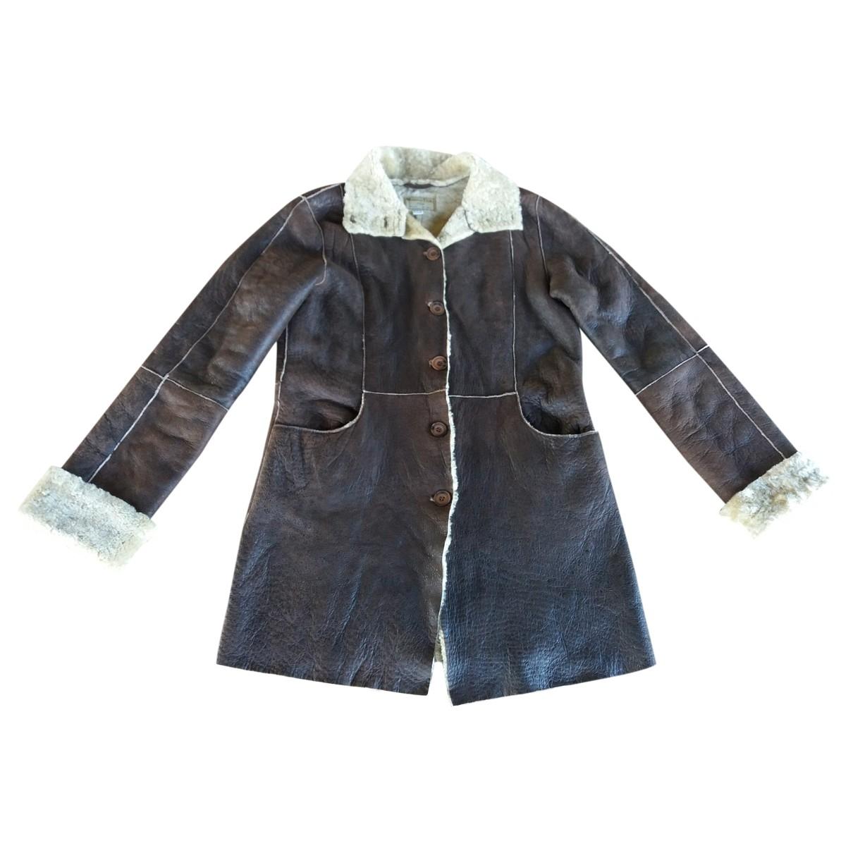 Massimo Dutti - Blousons.Manteaux   pour enfant en mouton - marron