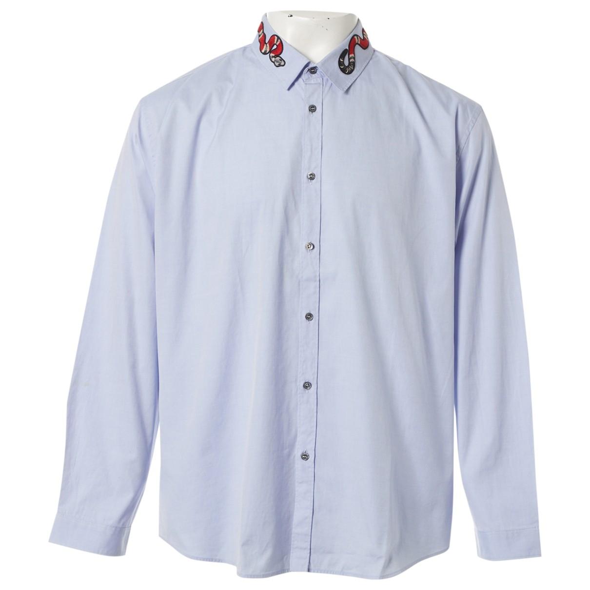 Gucci \N Blue Cotton Shirts for Men 3XL International