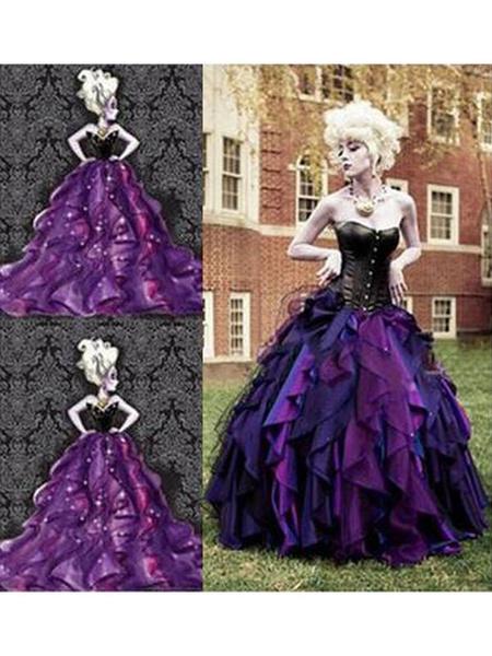Milanoo Disney La Sirenita Ursula Dress Cosplay Costumeb Halloween