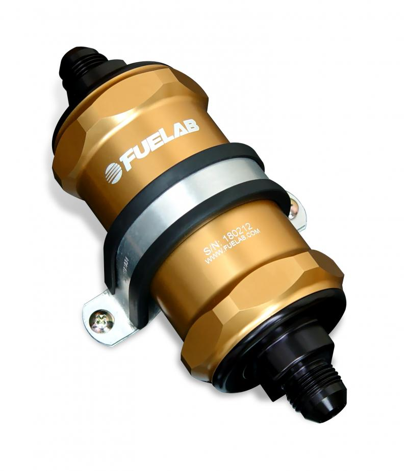 Fuelab 81822-5 In-Line Fuel Filter, 75 micron