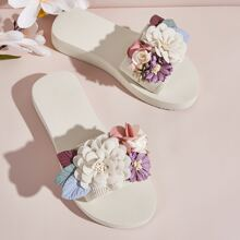 Floral Appliques Wide Fit Sliders
