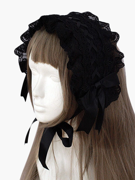 Milanoo Black Lace Gothic Lolita Headdress