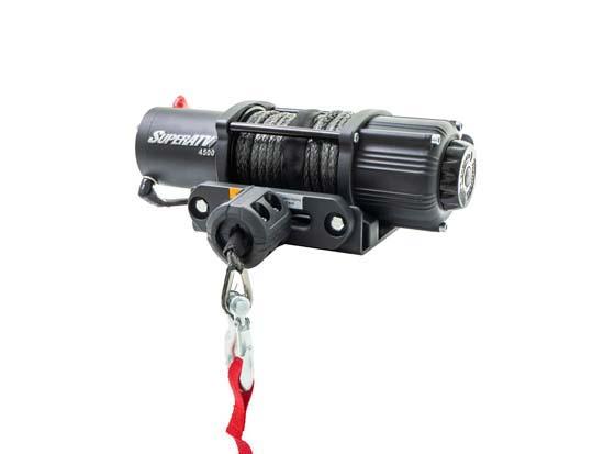 SuperATV WN-4500 4500 LB Black Ops UTV|ATV Synthetic Rope Winch