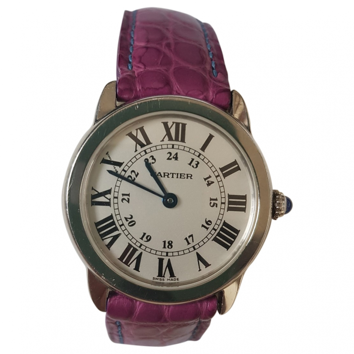 Cartier Ronde Louis Cartier Black Steel watch for Women \N