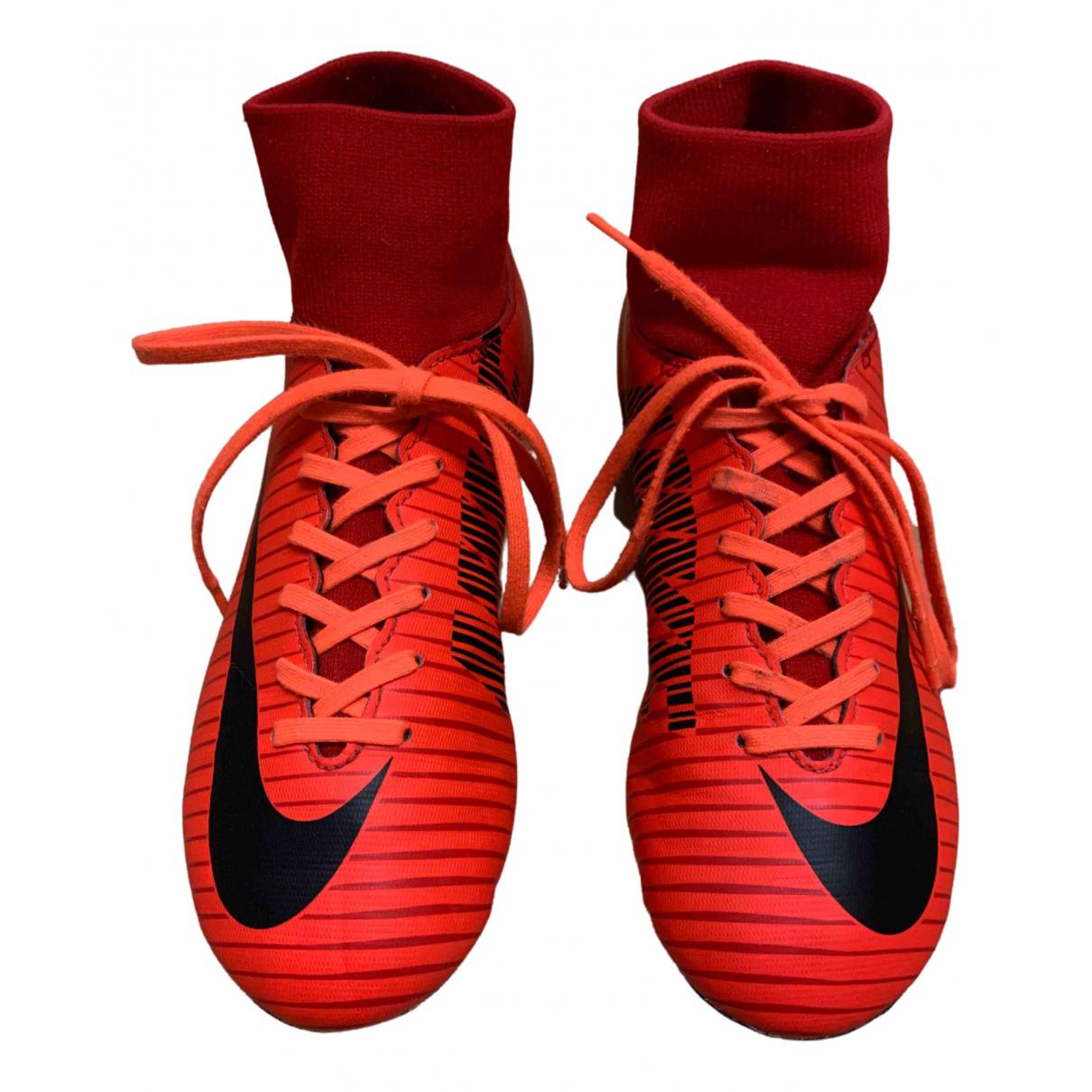 Nike - A lacets   pour enfant en cuir - rouge