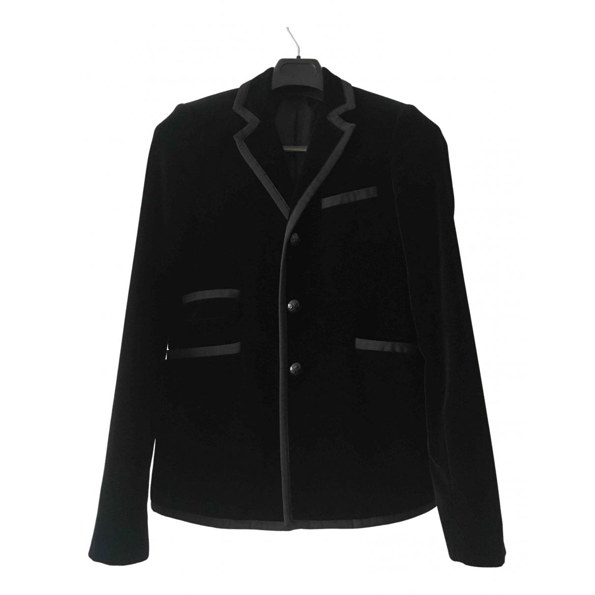 Balenciaga - Vestes.Blousons   pour homme en velours - noir
