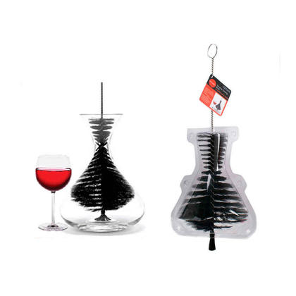 Large Carafe Decanter Cleaning Brush with Plastic Bristles - L.Gourmet