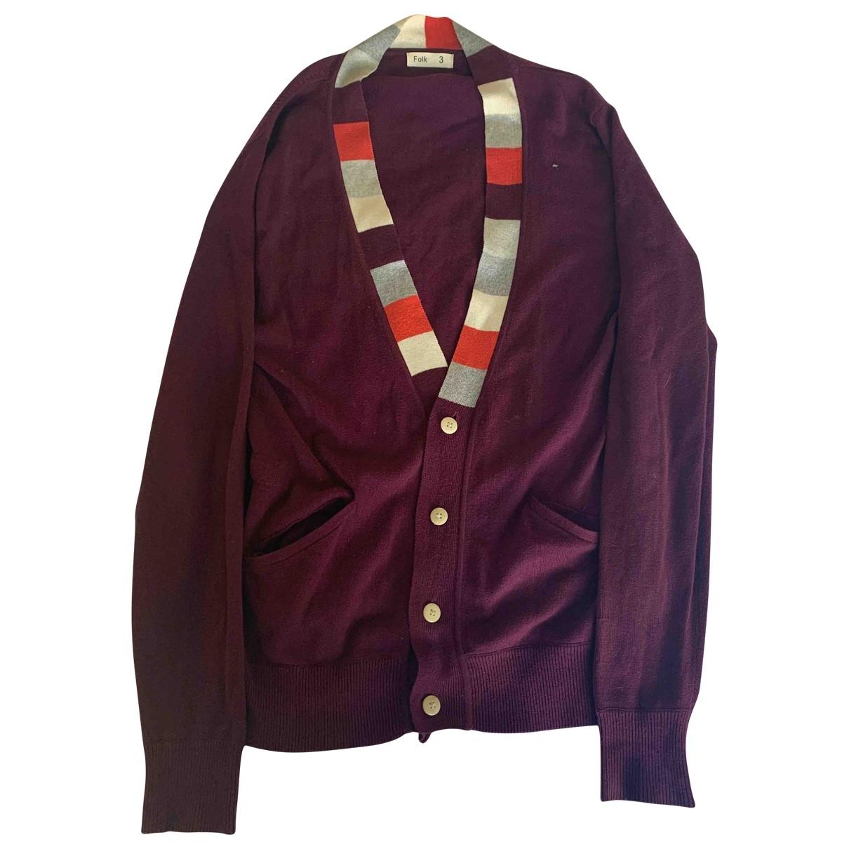 Folk \N Pullover.Westen.Sweatshirts  in  Bordeauxrot Baumwolle