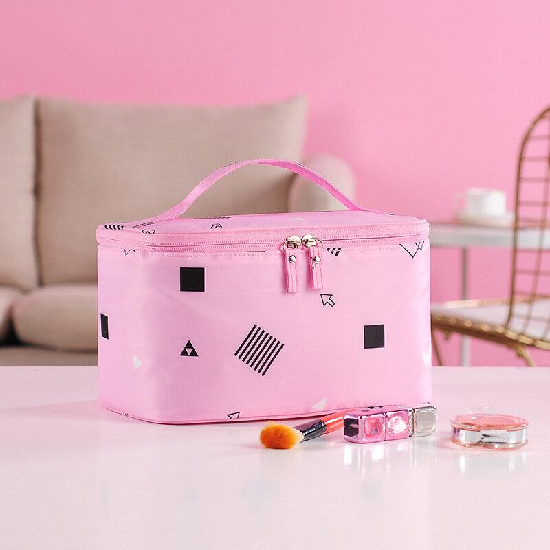 Geometrical Printing Multi-functional Travel Cosmetic Bag Large Capacity Portable Storage Bag