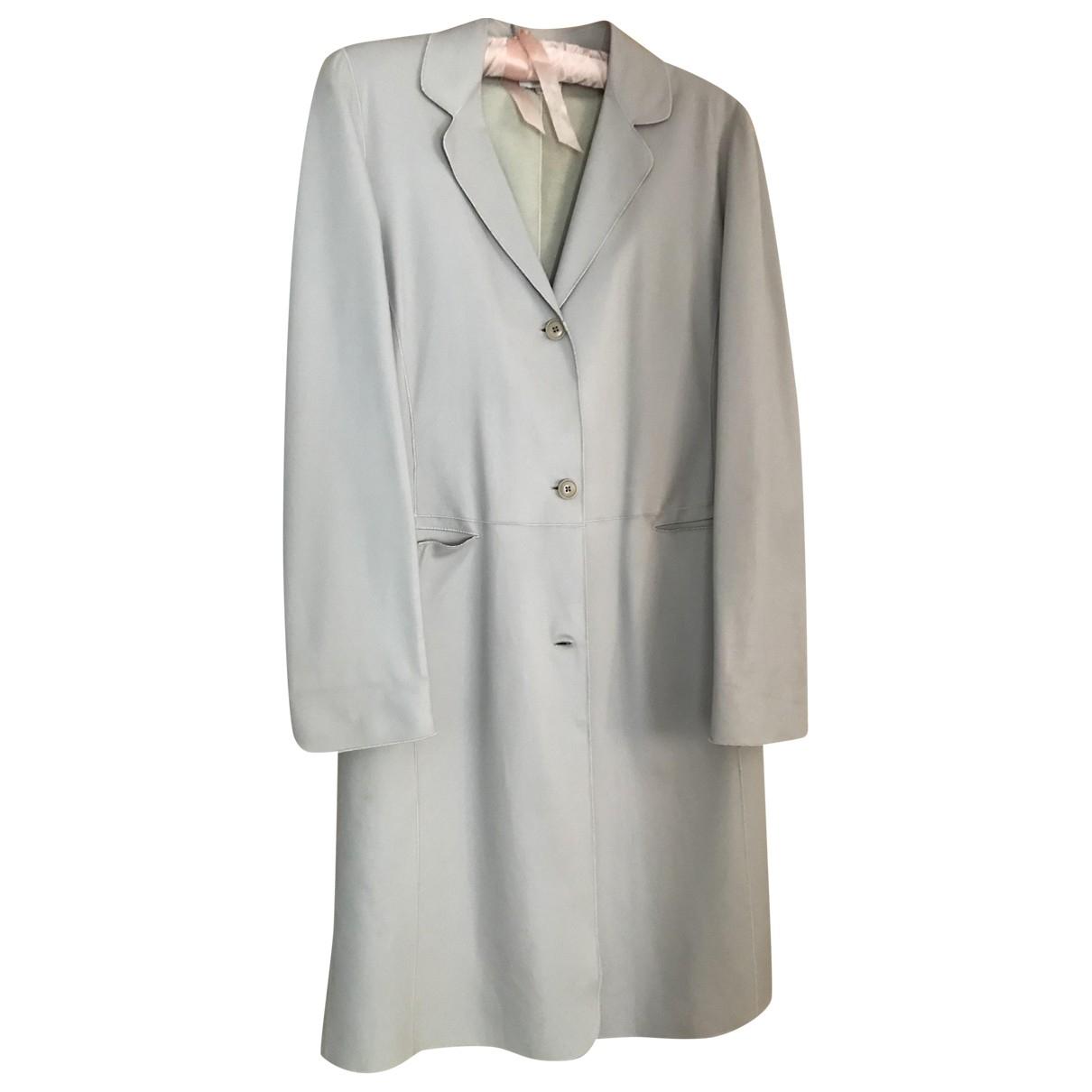 Armani Collezioni \N Ecru Leather coat for Women 42 IT