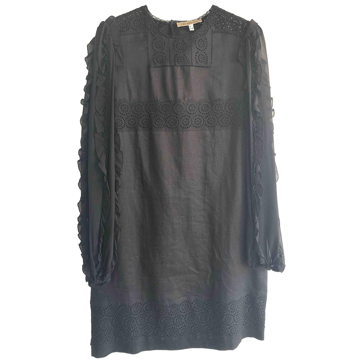 See By Chloé \N Black Linen dress for Women 46 IT